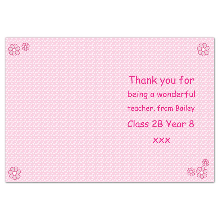 Worlds Best Teacher Card Free Delivery