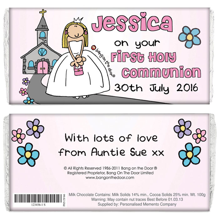 First Holy Communion Personalised Chocolate Bar