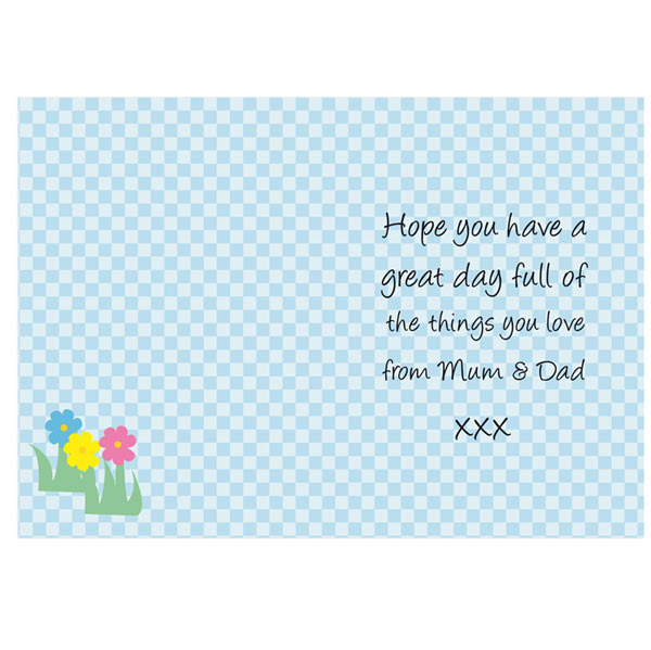 Personalised Happy Easter Egg Card Free Delivery