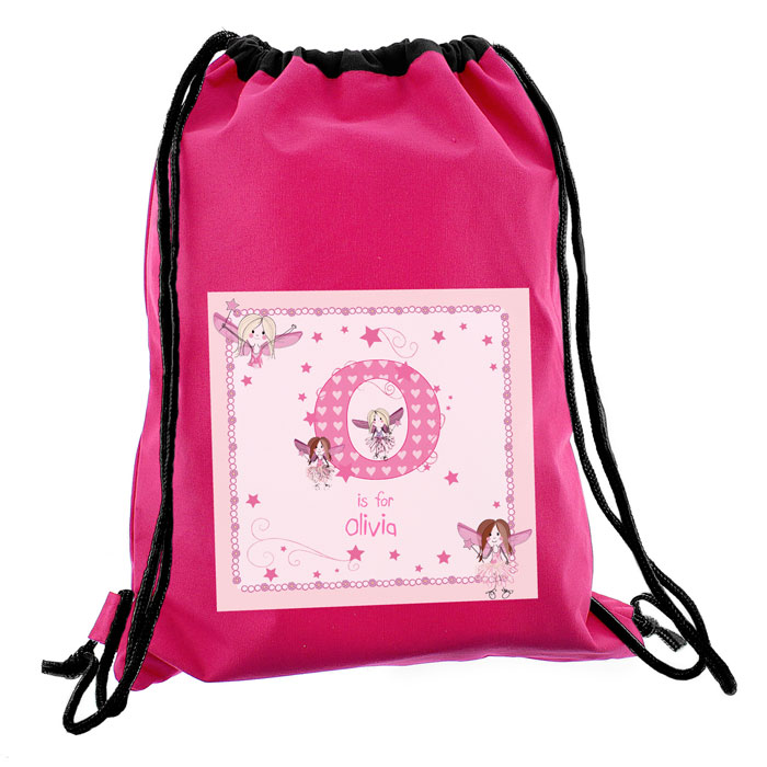 Personalised Fairy Letter Swim Bag PE Kit Bag