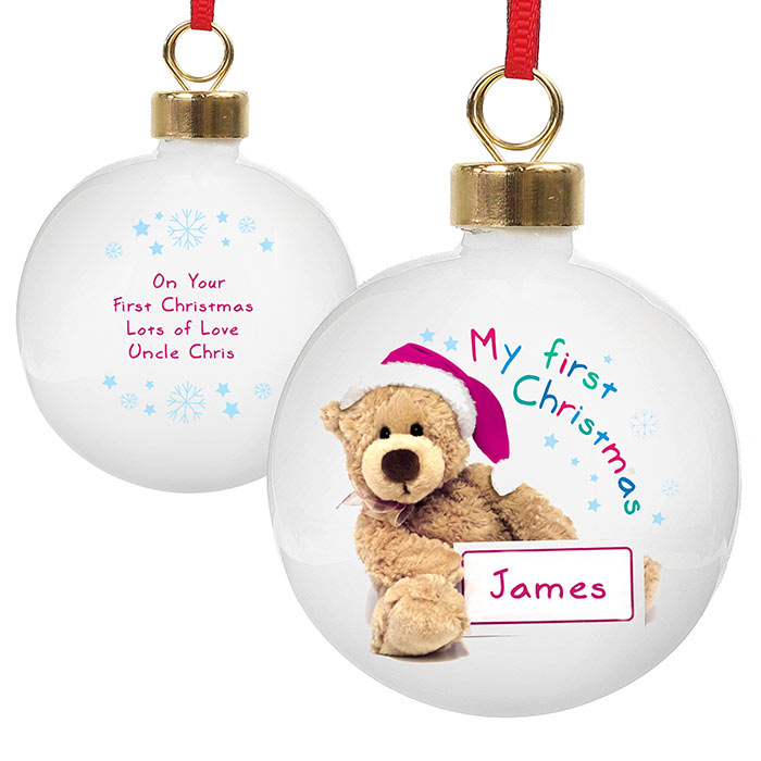 My First Christmas Teddy Bauble