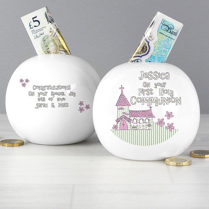 Whimsical Church 1st Holy Communion Moneybox Boy or Girl