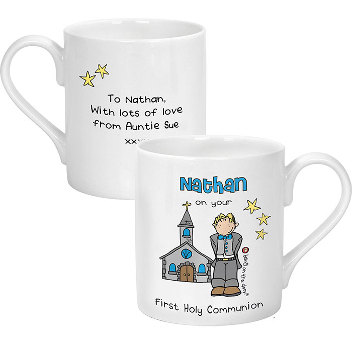 Bang On The Door First Holy Communion Mug Boy Girl