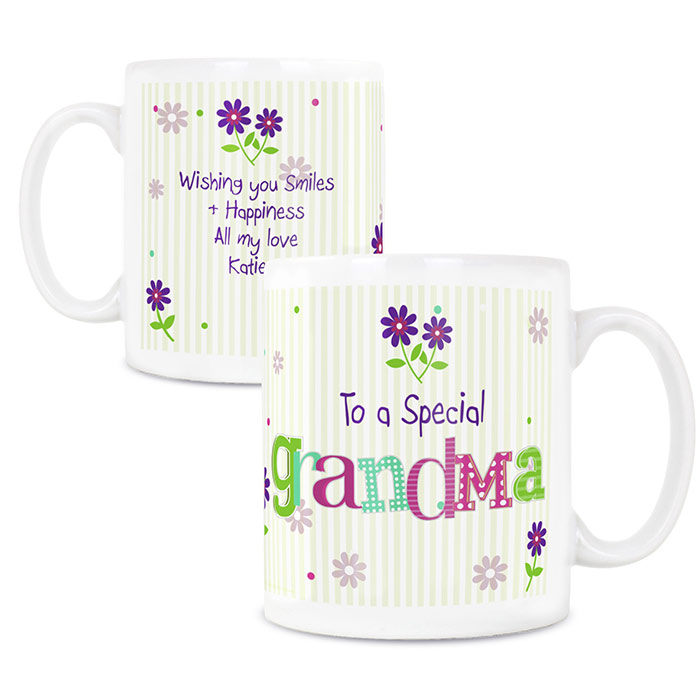Patchwork Flowers Personalised Mug Any Message