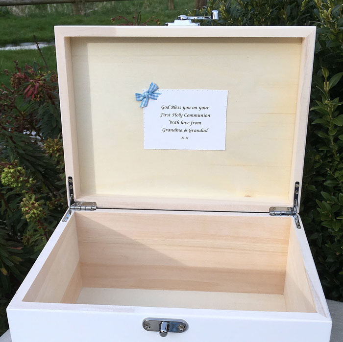 Boys First Holy Communion Personalised Keepsake Box