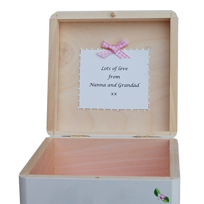 Personalised Christening Trinket Box