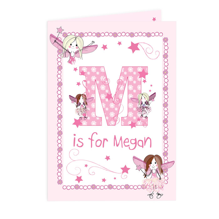 Personalised Fairy Initial Card