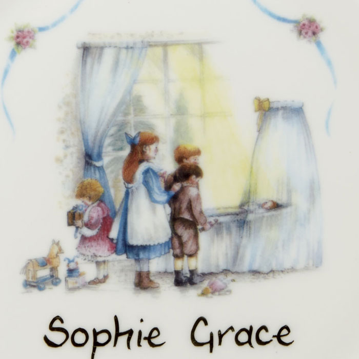 Personalised Traditional Bone China Christening Plate