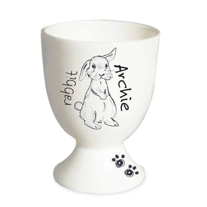 Personalised Scribble Bunny Egg Cup