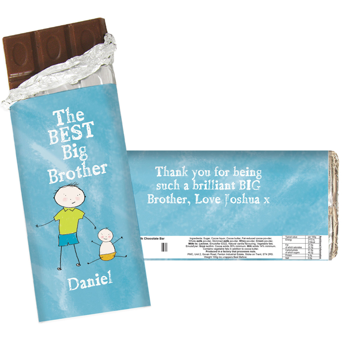 Personalised Best Big Brother Chocolate Bar Exclusive