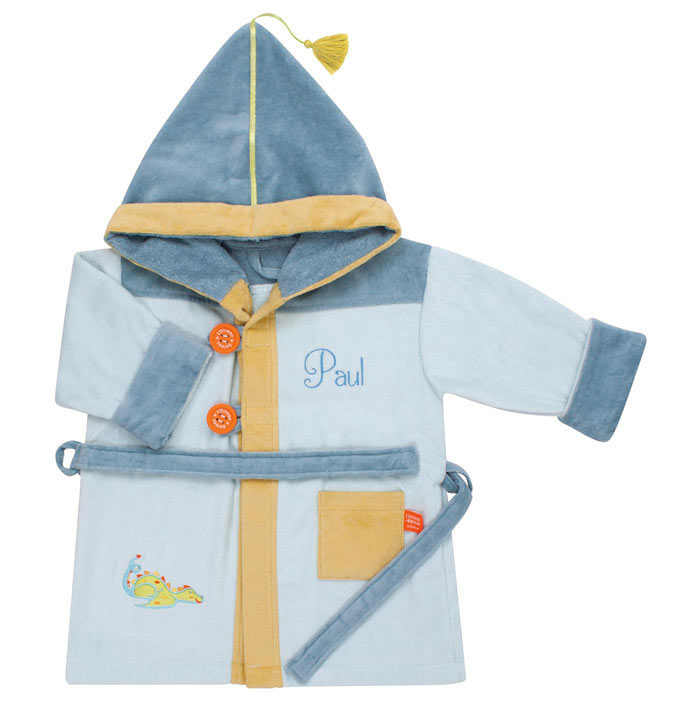 Personalised Bath Robe by L Oiseau Bateau 2 to 4 Years