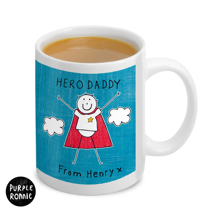 Personalised Purple Ronnie Super Hero Mug