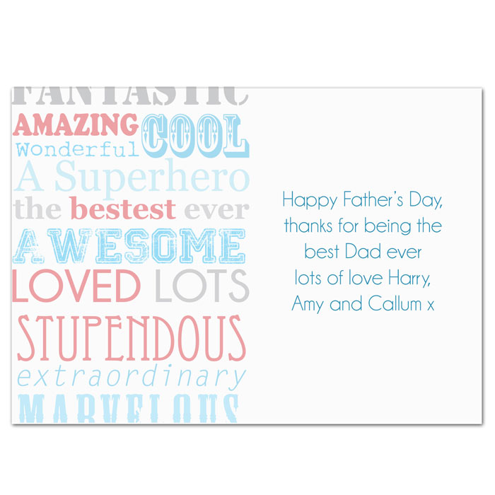Personalised He Is Card