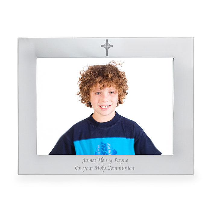 Personalised 7x5 inch Landscape Cross Frame