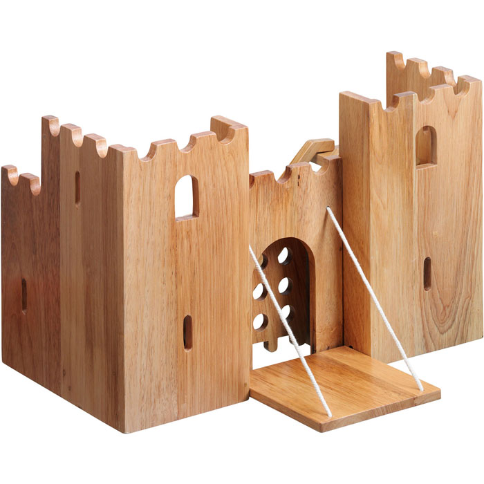 Fair Trade Natural Wood Castle Fortress by Lanka Kade