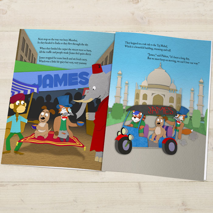Personalised Around the World Story Book