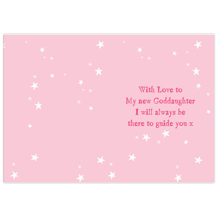 Personalised Christening or Communion Card Little Girl