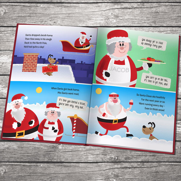 When Santa Got Stuck Up The Chimney Book Embossed Version
