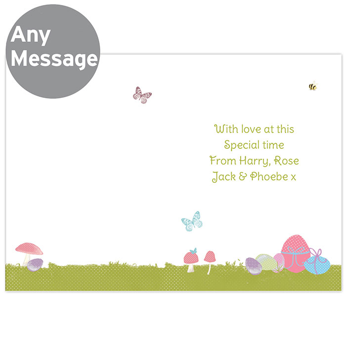 Personalised Easter Meadow Bunny Card Free Delivery