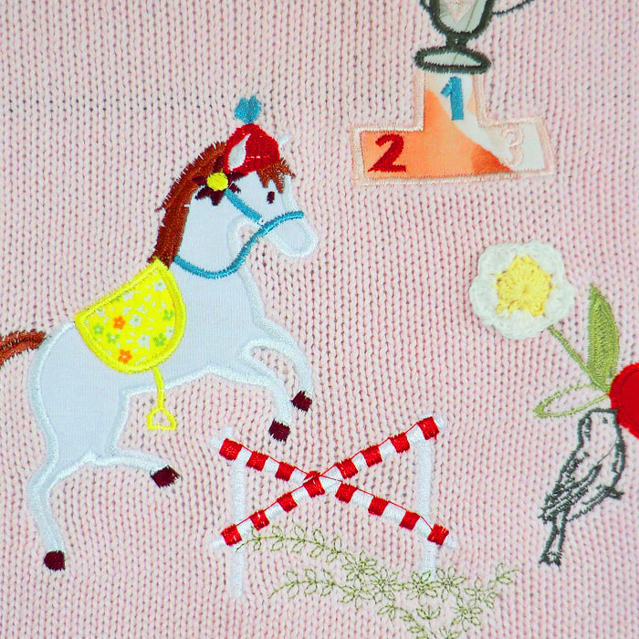 Personalised Embroidered Knitted Pony Cot Blanket