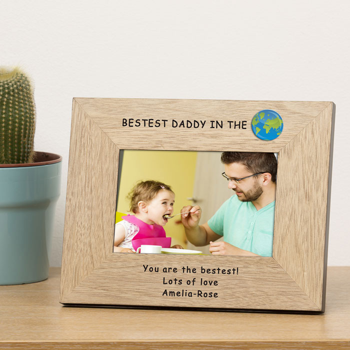 Personalised Bestest Daddy in the World Frame 6x4 Inch