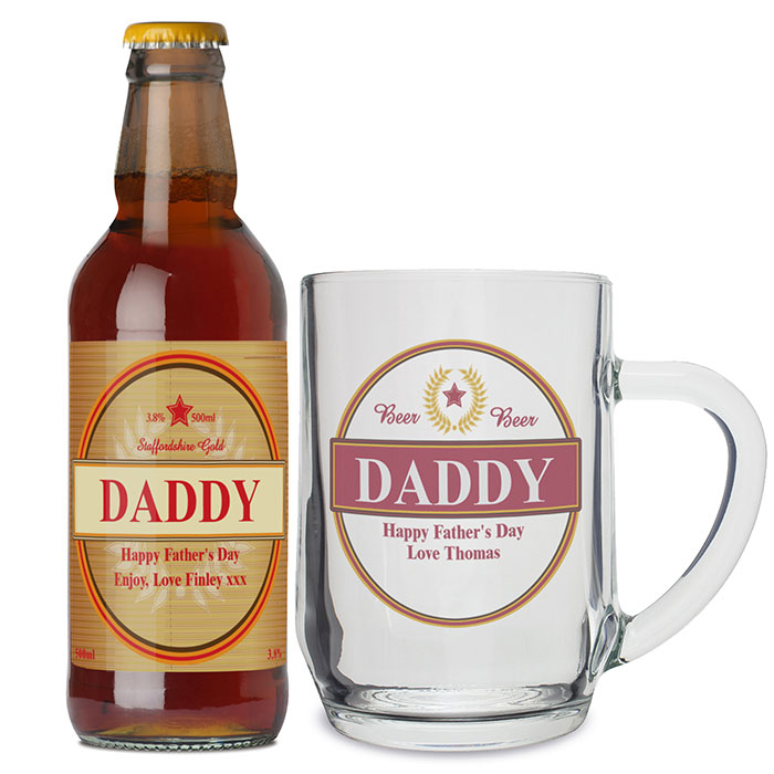 Personalised Luxury Beer and Tankard Set