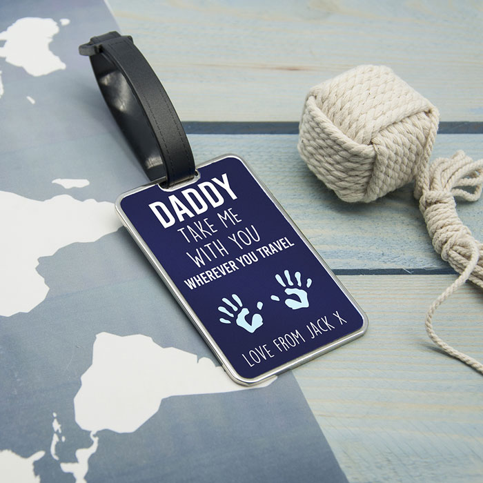 Daddy Take Me With You Personalised Luggage Tag
