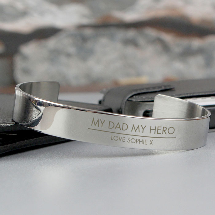 Classic Engraved Stainless Steel Bangle