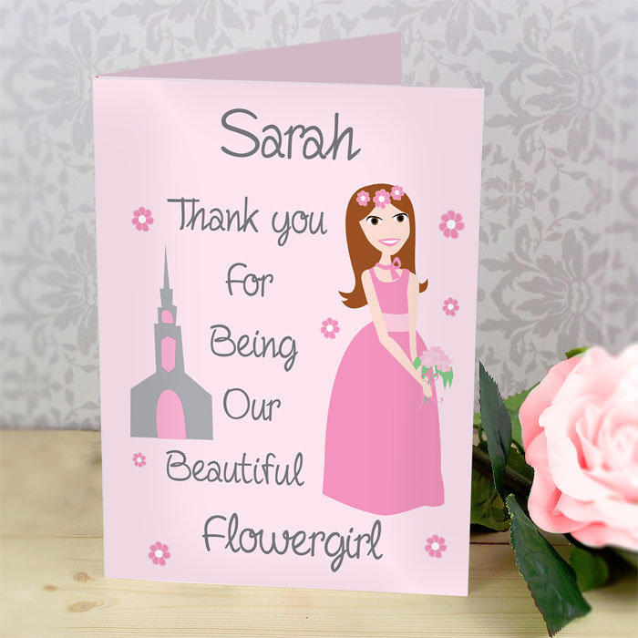 Personalised Fabulous Bridesmaid Flower Girl Card