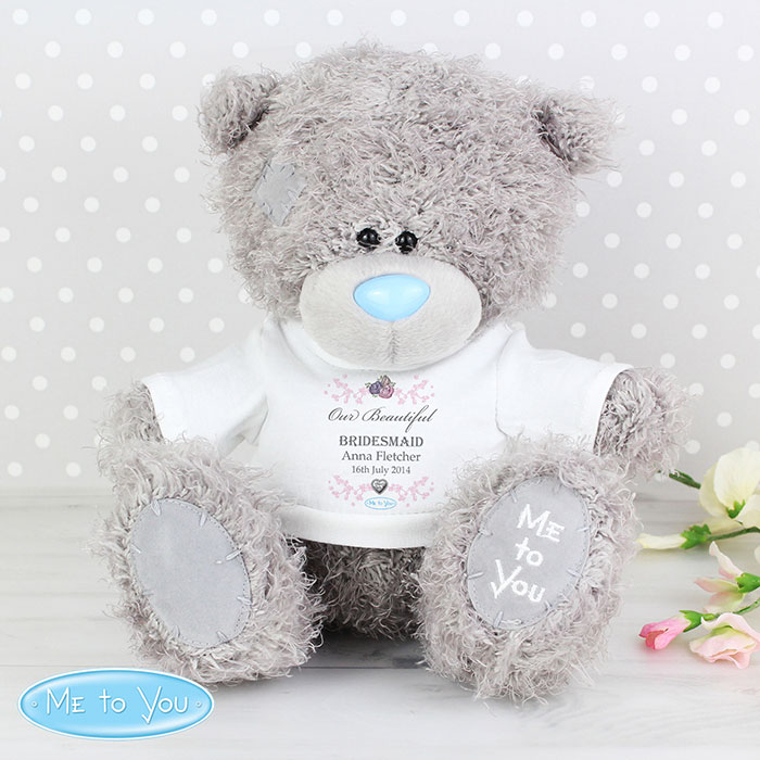 Personalised Flower Girl or Bridesmaid Me to You Teddy