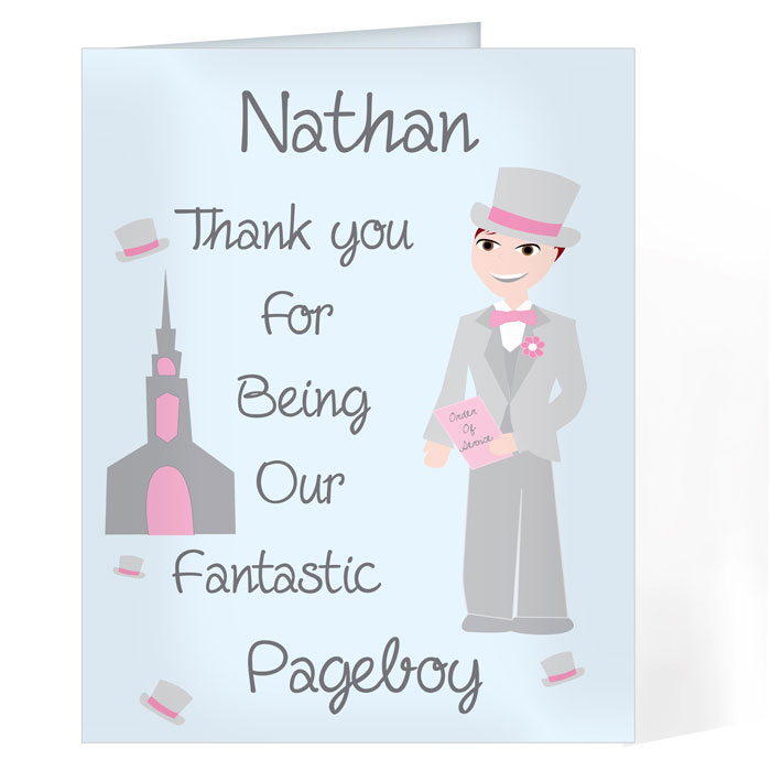 Personalised Fantastic Page Boy Card