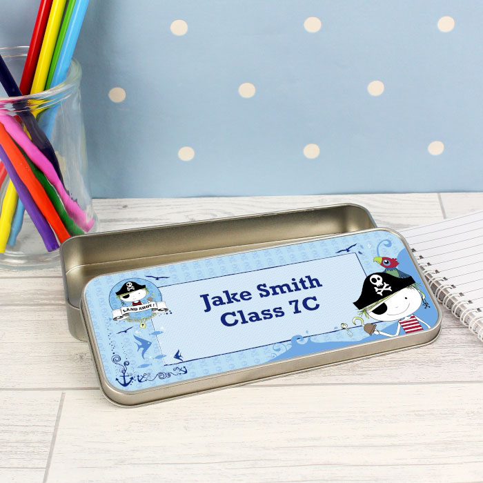 Personalised Pirate Colouring Pencil Tin and Pencils