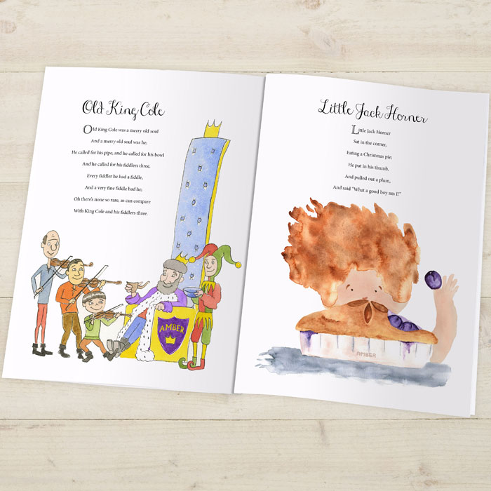 Traditional Nursery Rhymes Embossed Personalised Book