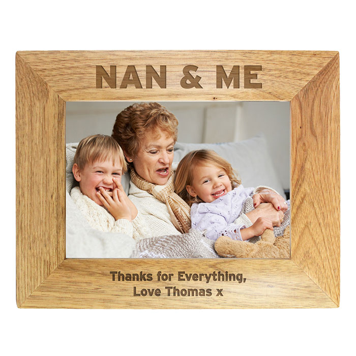 Personalised Nan and Me 5x7 Inch Wooden Photo Frame