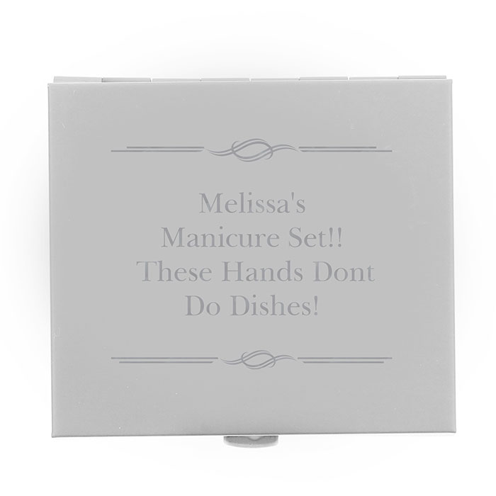 Personalised Any Message Manicure Set