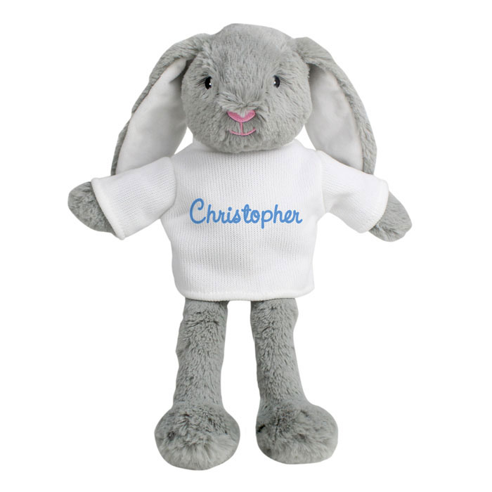 Personalised Blue Name Bunny Boys Easter Gift