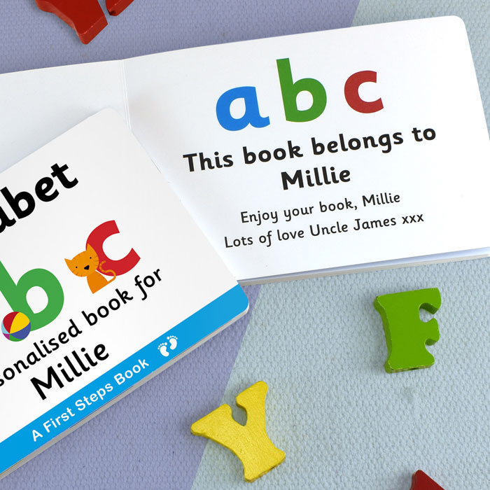Personalised First Steps Learning The Alphabet Board Book