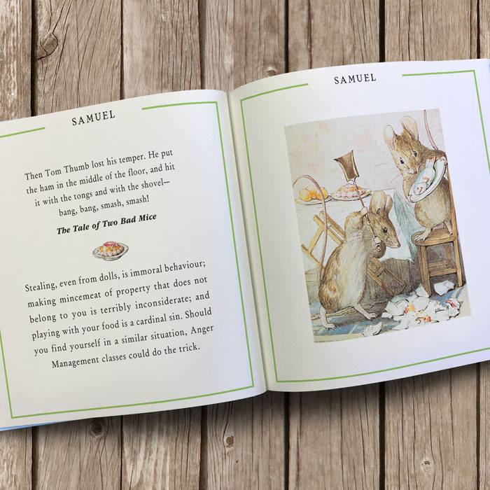 Personalised A Peter Rabbit Little Book of Virtue