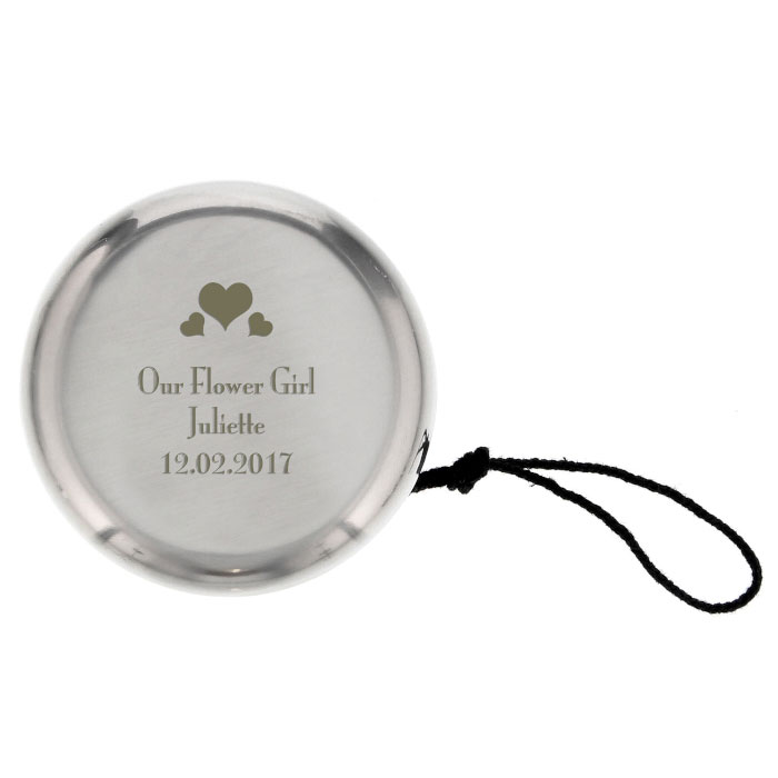 Personalised Hearts YoYo Flower Girl Bridesmaid
