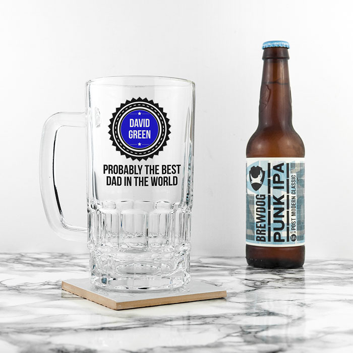 Personalised Probably The Best Beer Glass Tankard