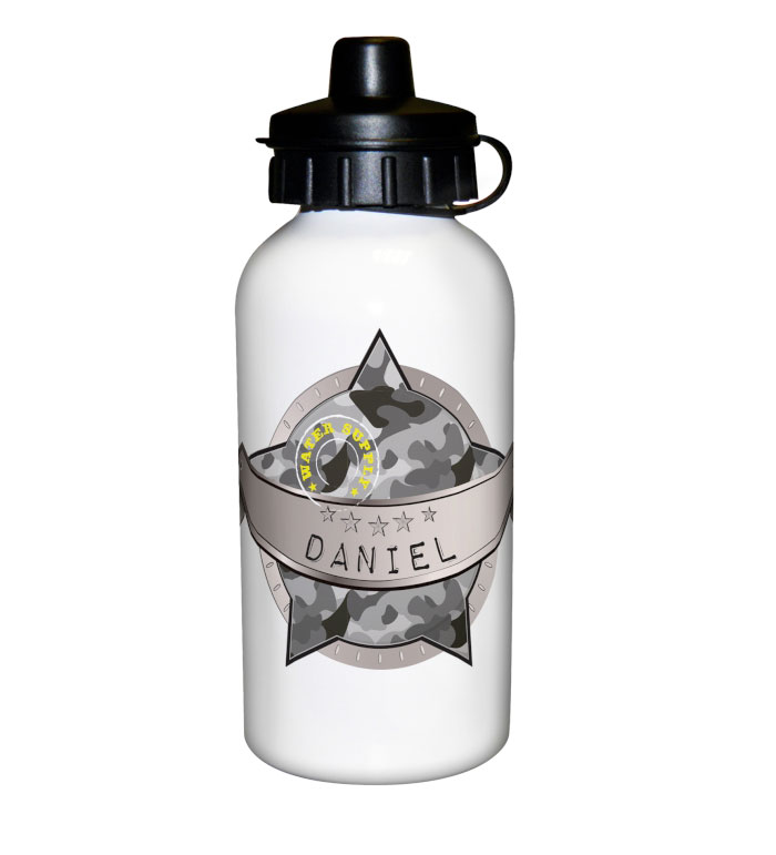 Personalised Army Camo Drinks Bottle