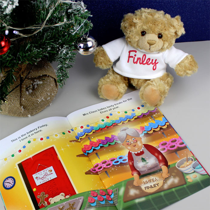 Personalised Magical Christmas Book and Personalised Bear