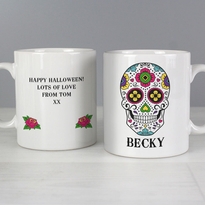 Personalised Sugar Skull Ceramic Mug