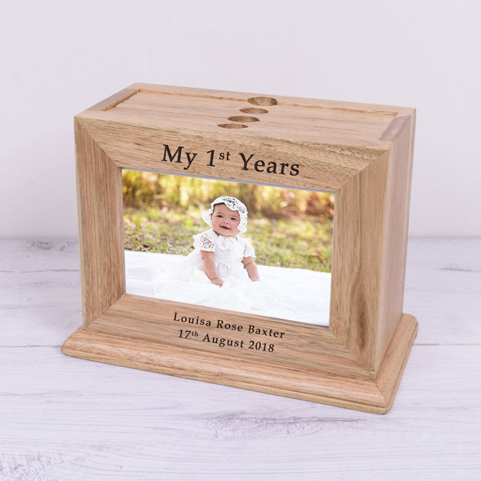 Personalised My 1st Years Wooden Photo Album Box