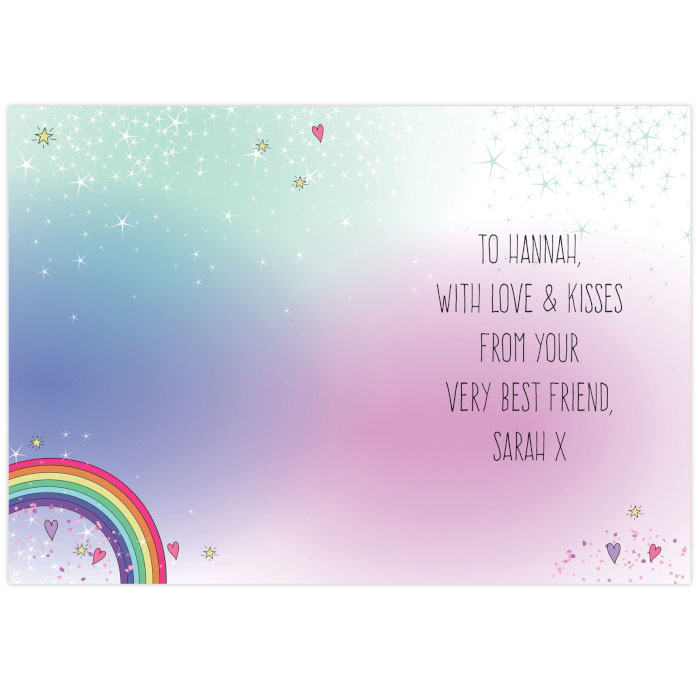 Personalised Unicorn Card Free Delivery