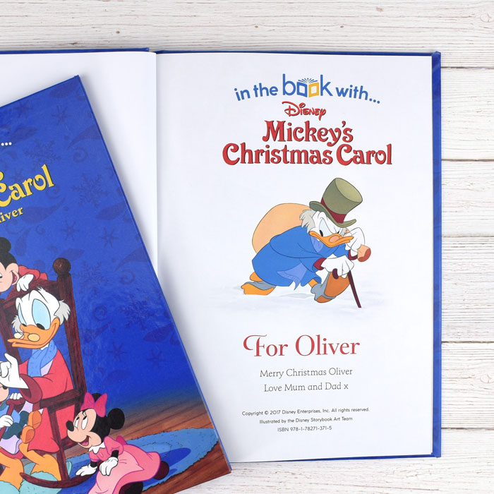 Personalised Disney Mickeys Christmas Carol Book