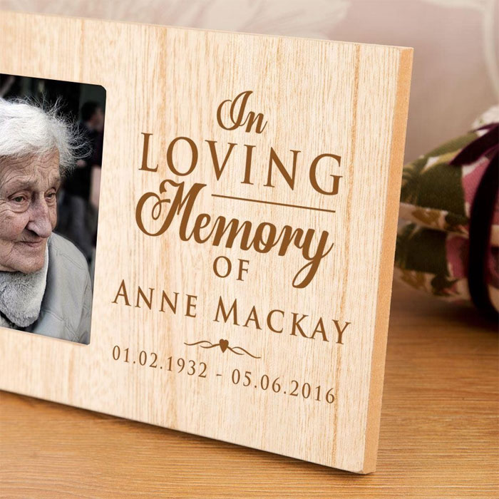 Personalised In Loving Memory Of Wooden Photo Frame