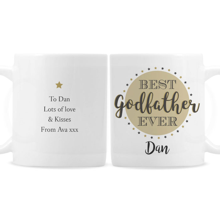 Personalised Best Godfather China Mug