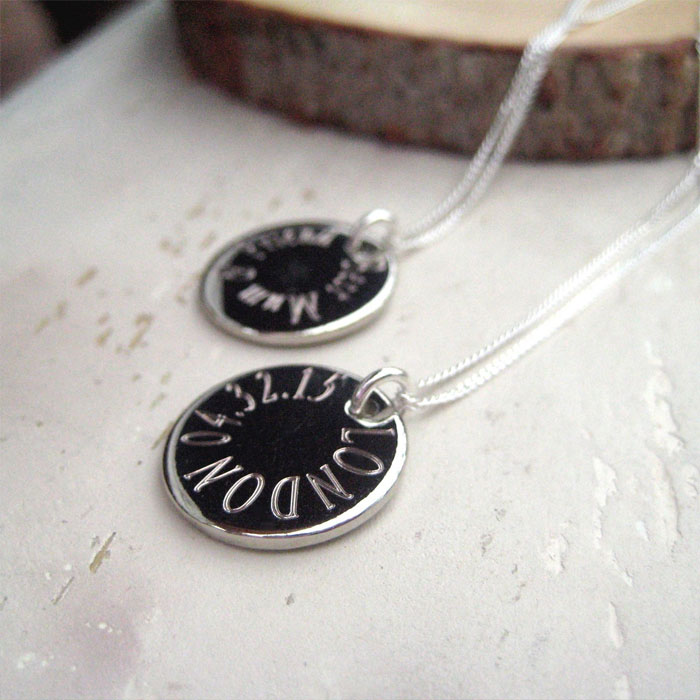 Personalised Silver Plated Edge Necklace