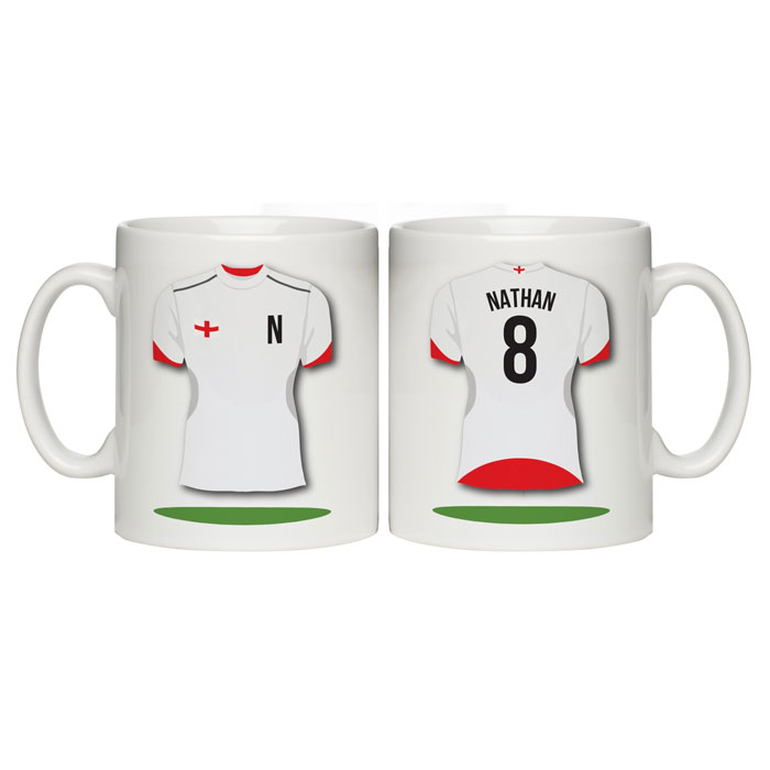 Personalised England Themed Shirt Mug
